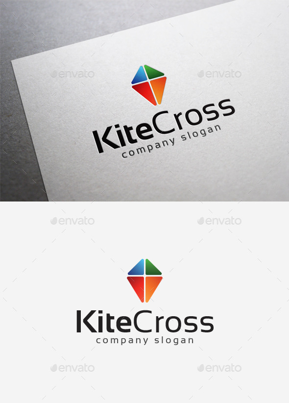 Kite Cross Logo - Abstract Logo Templates