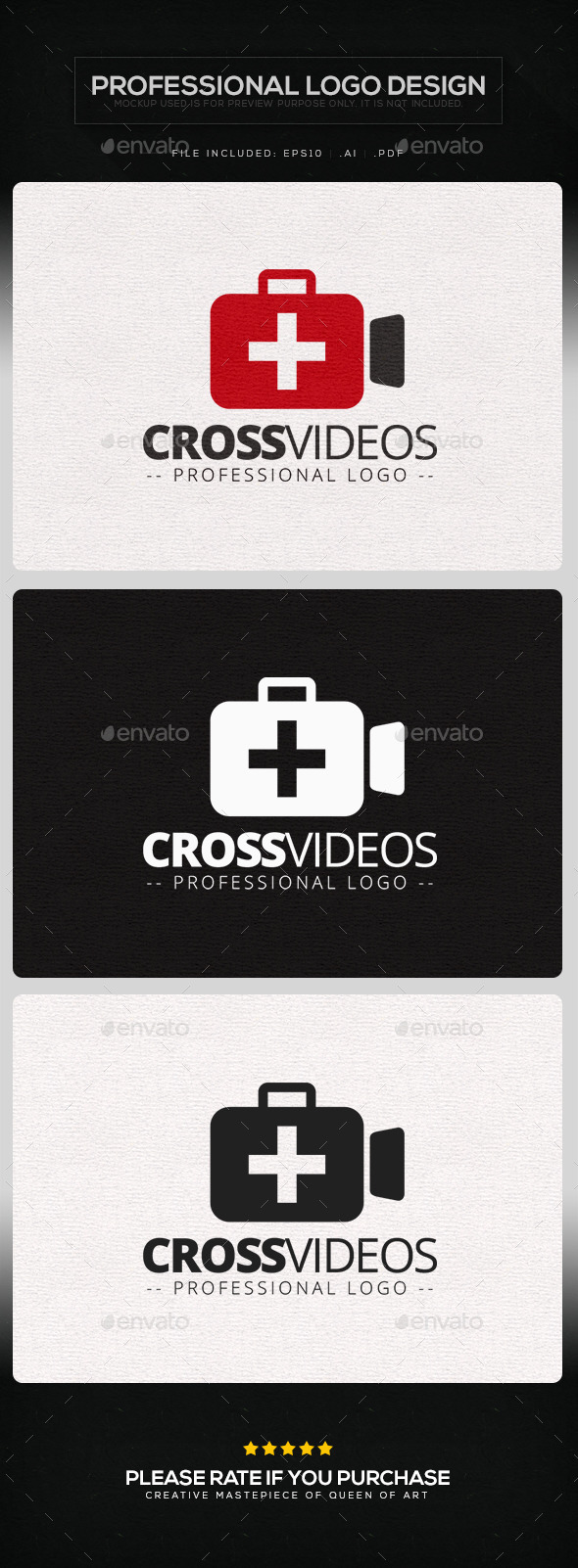 Cross Videos Logo Template - Objects Logo Templates