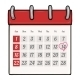 Cartoon Loose-Leaf Calendar  - GraphicRiver Item for Sale