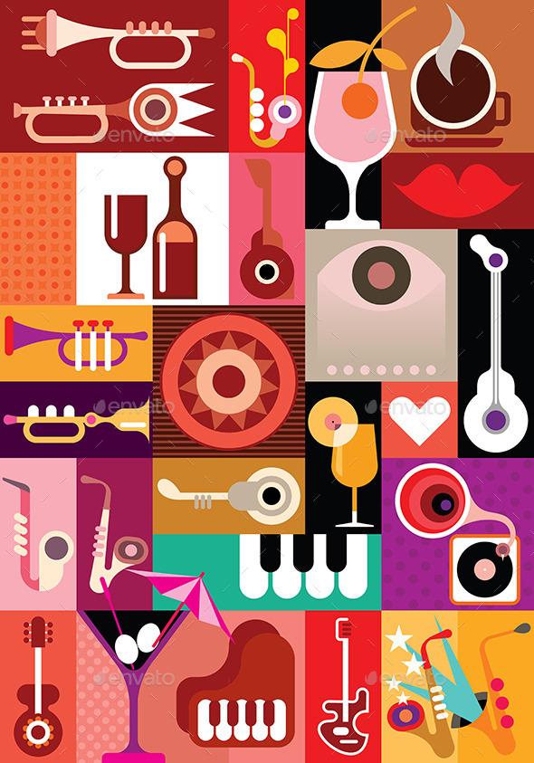 Music Festival Poster - Decorative Vectors