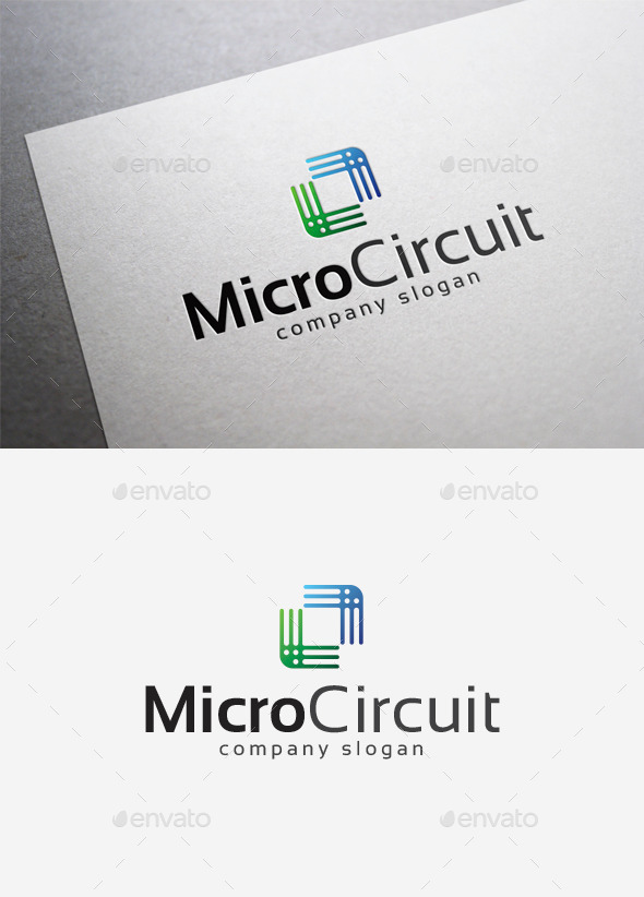 Micro Circuit Logo - Abstract Logo Templates
