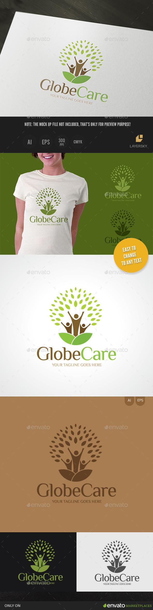 Globe Care - Nature Logo Templates