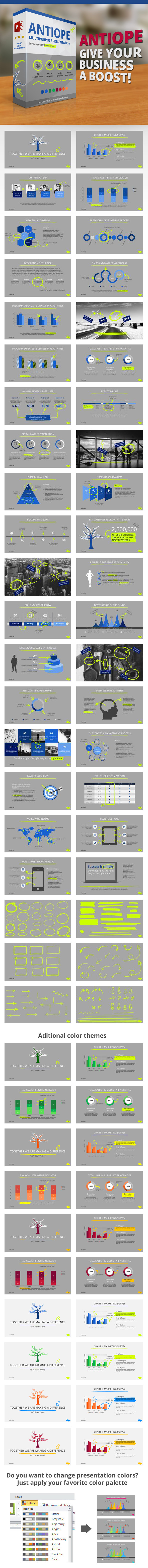 Antiope PowerPoint Template - PowerPoint Templates Presentation Templates