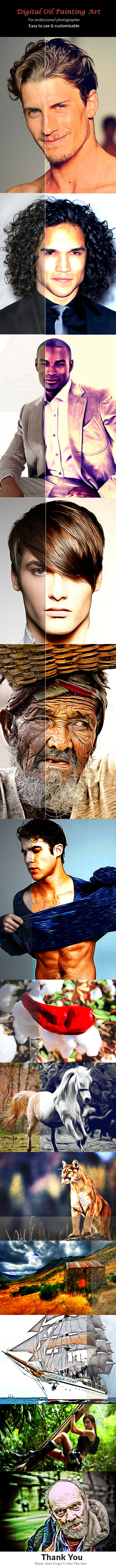 Digital Oil Painting Art - Photo Effects Actions