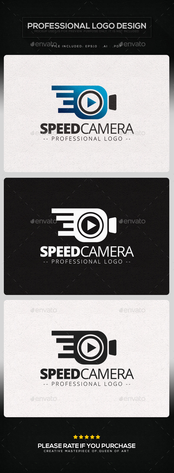 Speed Camera Logo Template - Objects Logo Templates