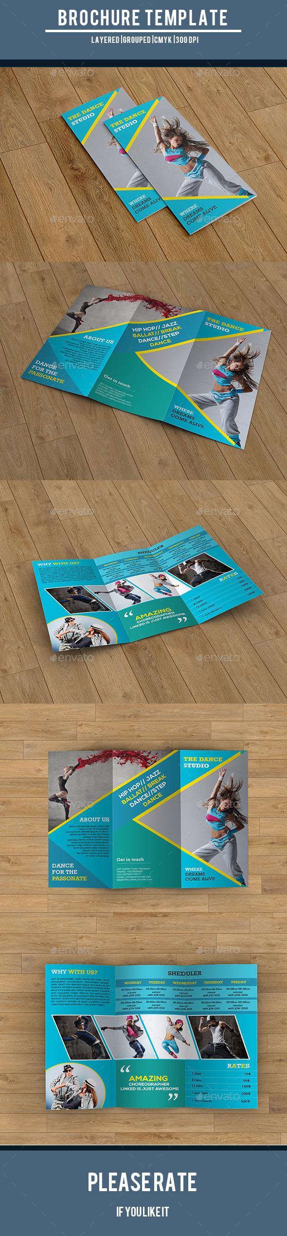 Dance Studio Trifold Brochure-V214 - Corporate Brochures