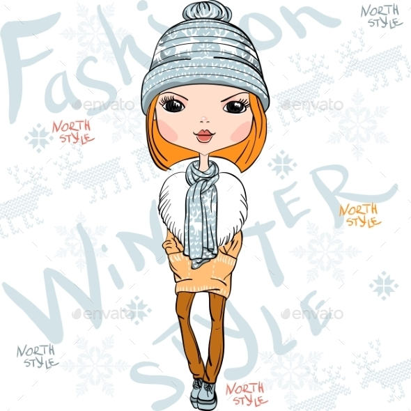 Fashion Girl in Winter - People Characters