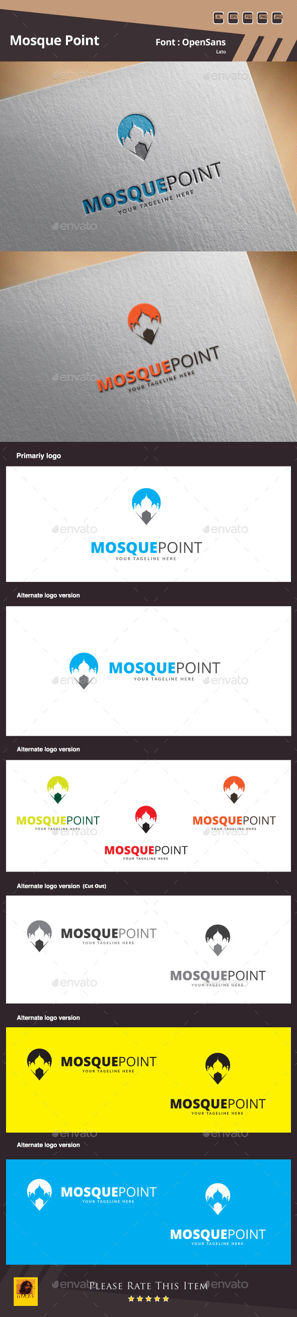 Mosque Point Logo Template - Symbols Logo Templates