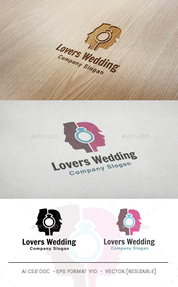 Lovers Wedding Logo - Humans Logo Templates