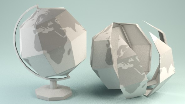 paper globe by red5five 3docean