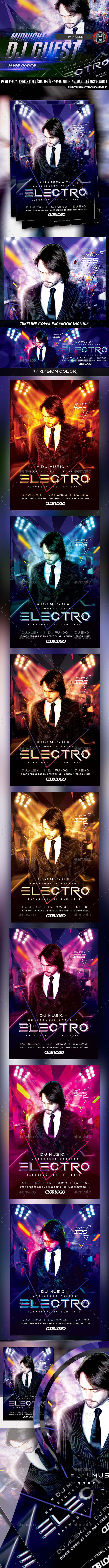 DJ ELECTRO GUEST FLYER - Events Flyers