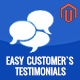 Easy Customer`s Testimonial Magento Extension