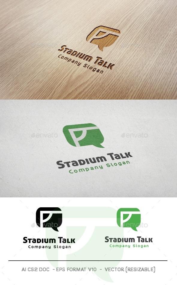 Stadium Talk Logo - Objects Logo Templates
