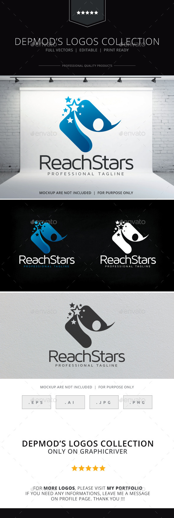 Reach Stars Logo - Humans Logo Templates