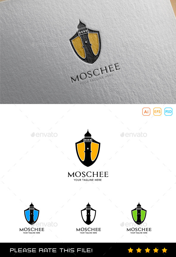 Moschee Logo - Buildings Logo Templates