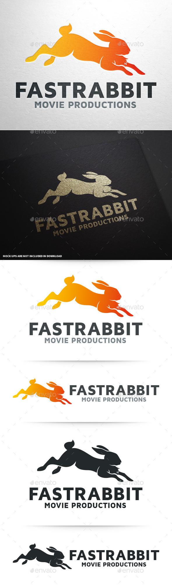 Fast Rabbit Logo Template - Animals Logo Templates