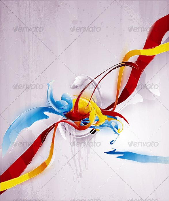 Abstract vector graphic, bright background  - Abstract Conceptual