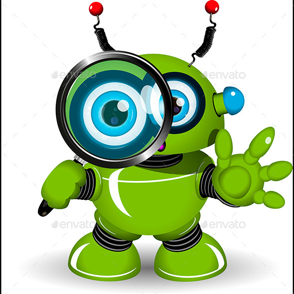 Robot with a Magnifying Glass - Miscellaneous Characters