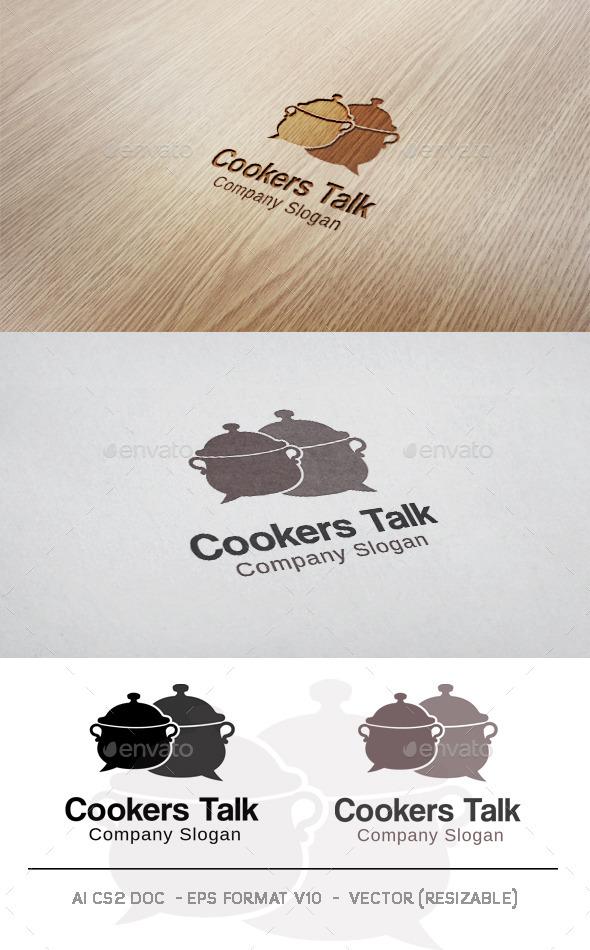 Cookers Talk Logo - Food Logo Templates