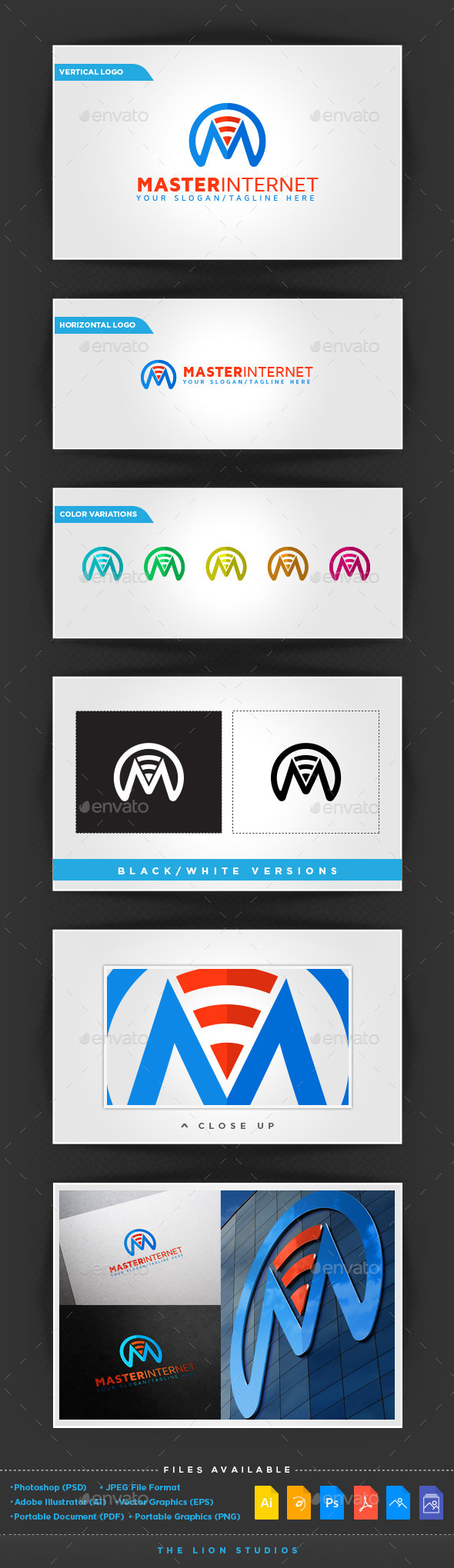Master Internet Logo Template - Letters Logo Templates