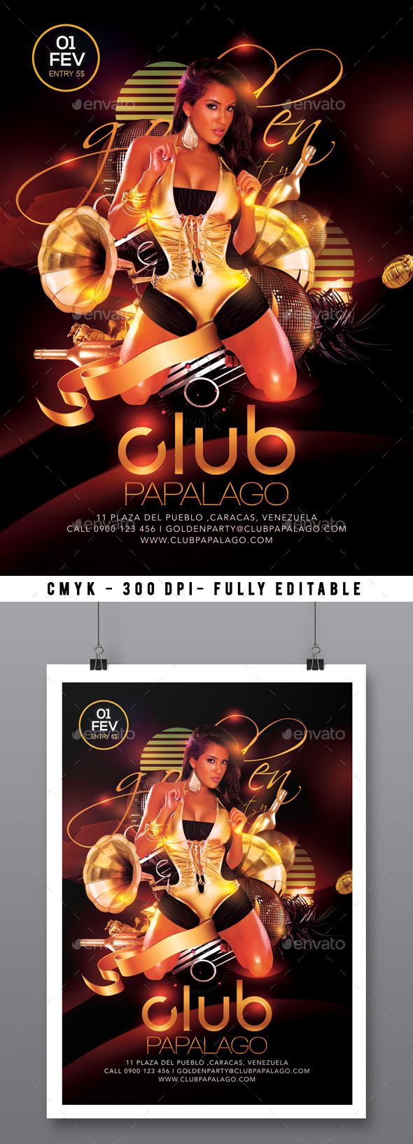 Classy Retro Modern Golden Party In Club - Clubs & Parties Events