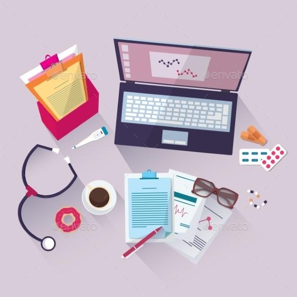 Medical Workplace - Health/Medicine Conceptual