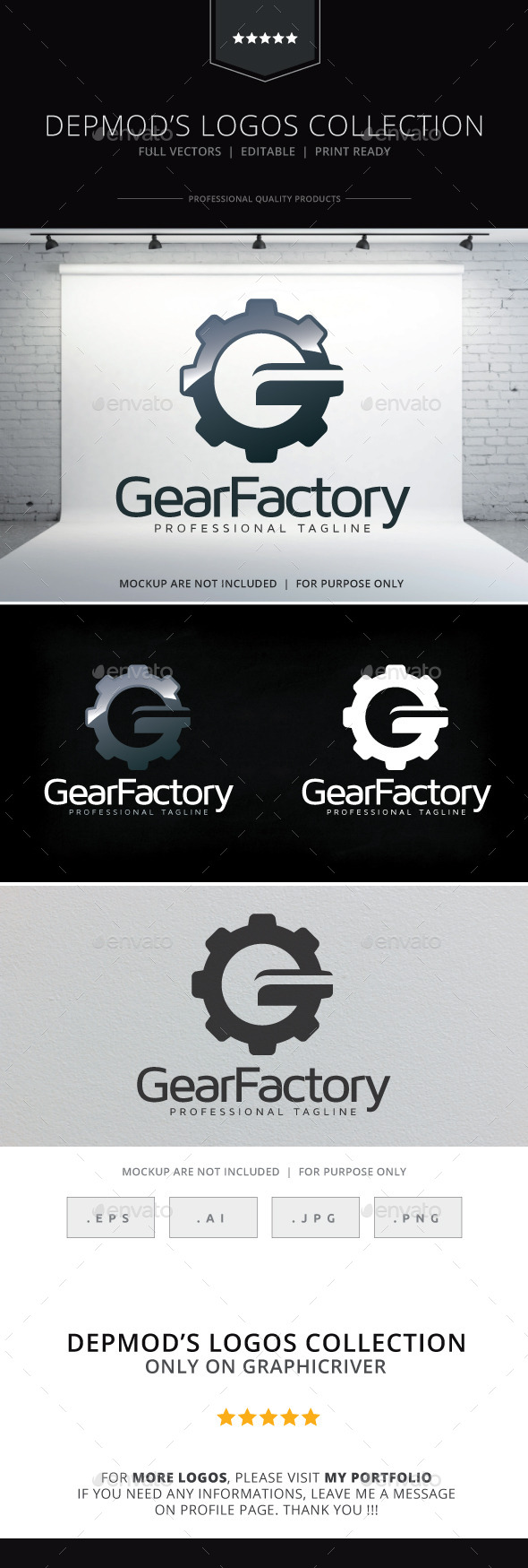 Gear Factory Logo - Letters Logo Templates