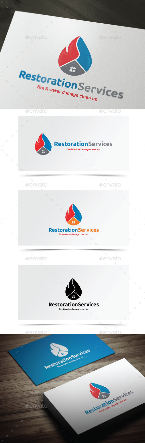 Restoration Services - Objects Logo Templates
