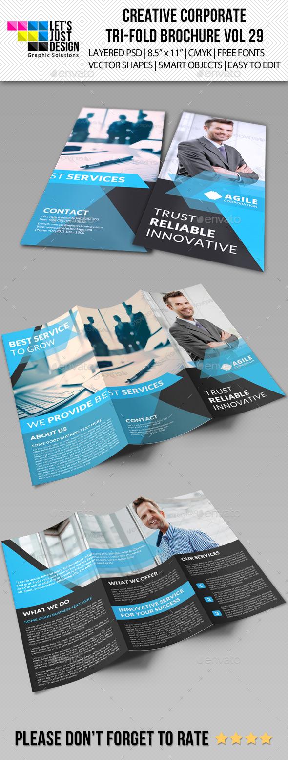 Creative Corporate Tri-Fold Brochure Vol 29 - Corporate Brochures