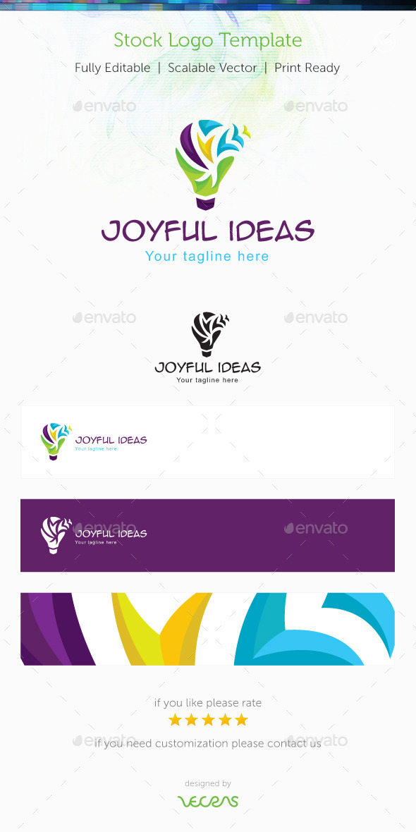 Joyful Ideas Stock Logo Template - Humans Logo Templates