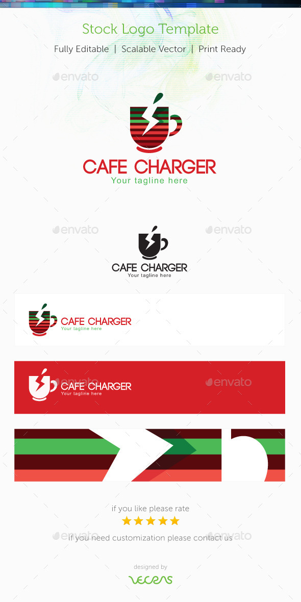 Café Charger Stock Logo Template - Objects Logo Templates