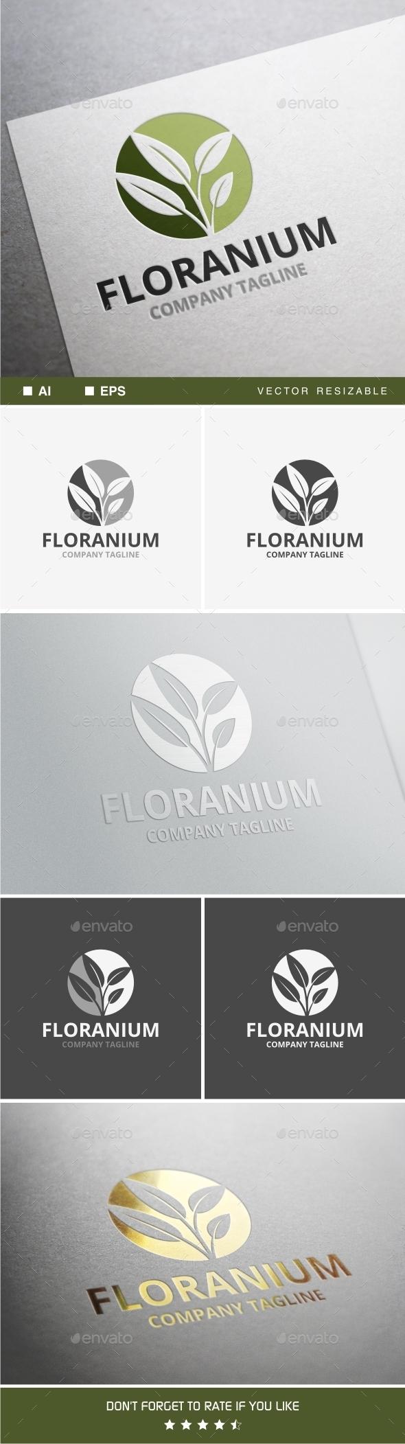 Floranium Logo - Nature Logo Templates
