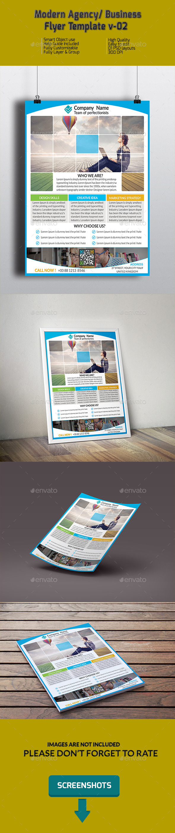 Modern Agency/ Business Flyer Template v-02 - Corporate Flyers