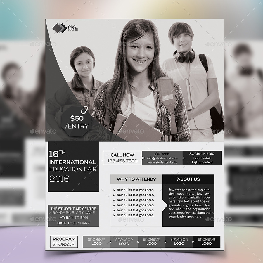 Education Fair Event Flyer Template By Fayejkhan