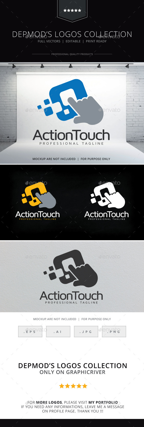 Action Touch Logo - Symbols Logo Templates
