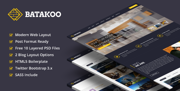 BATAKOO – Modern Construction Business Template