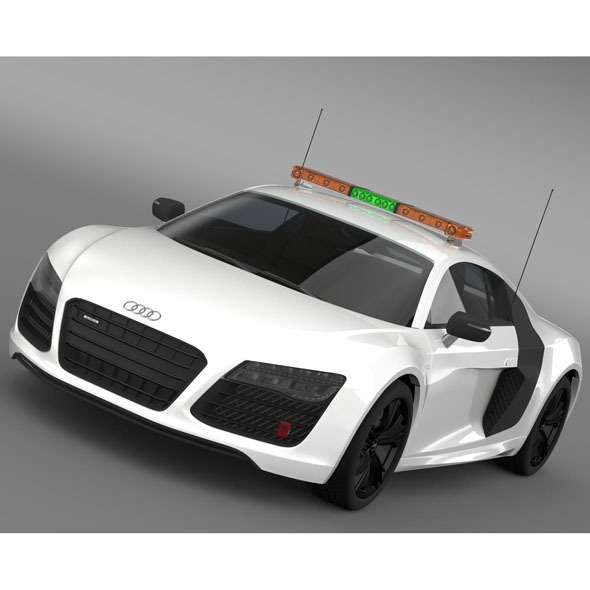 Audi R8 V10plus Safety Car - 3DOcean Item for Sale