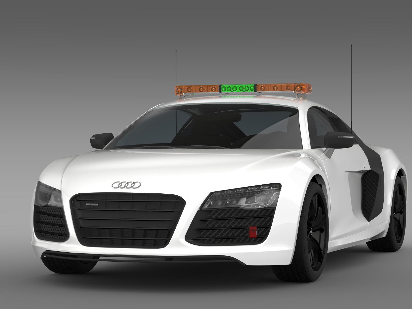 Audi R Vplus Safety Car By Creatord DOcean - Audi car 3d image