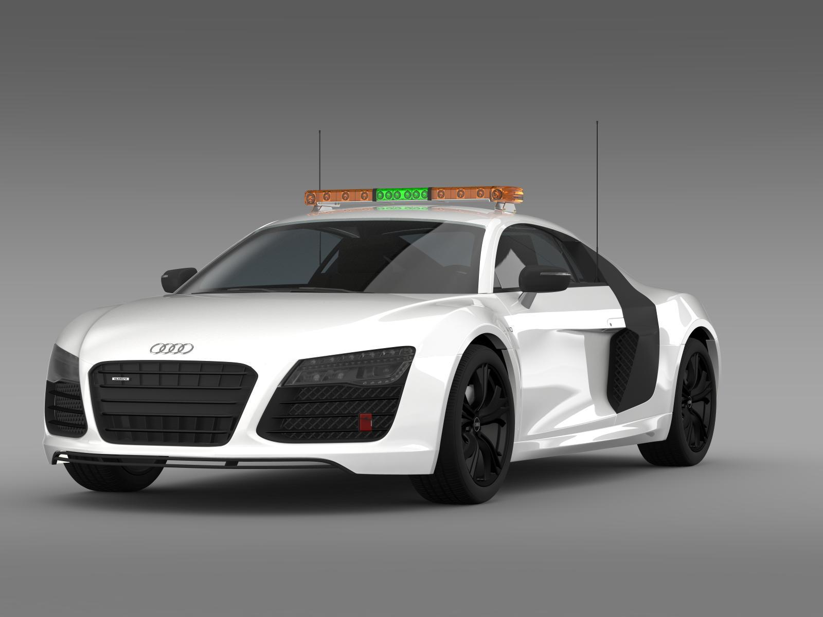 audi r8 v10plus safety car by creator 3d 3docean