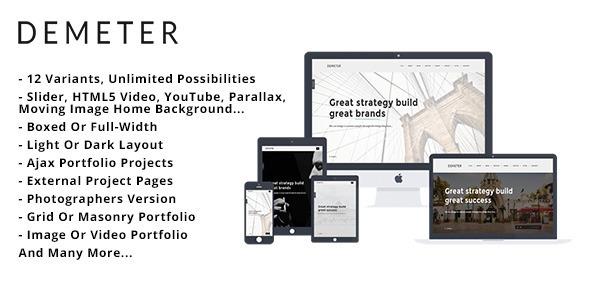 Demeter – Creative HTML5 Template