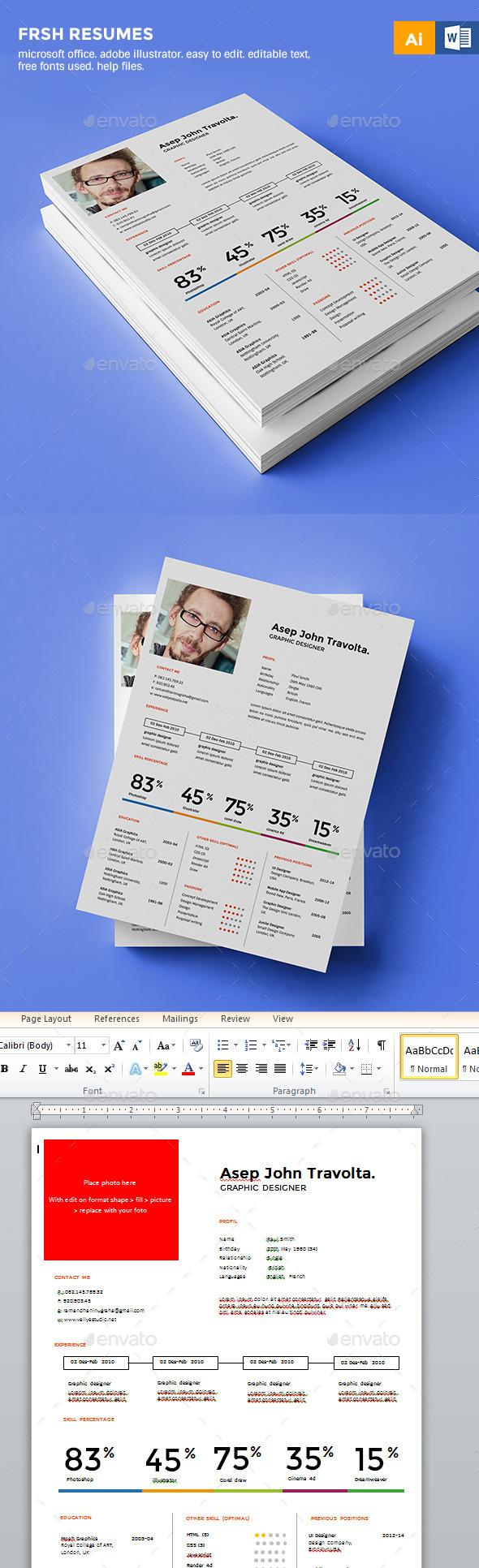 Fresh Resume/CV - Resumes Stationery