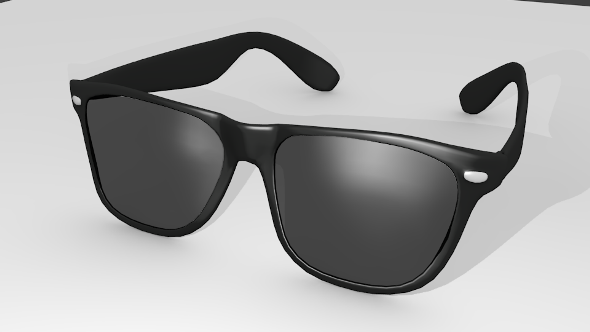 RB Black Eye Glasses - 3DOcean Item for Sale