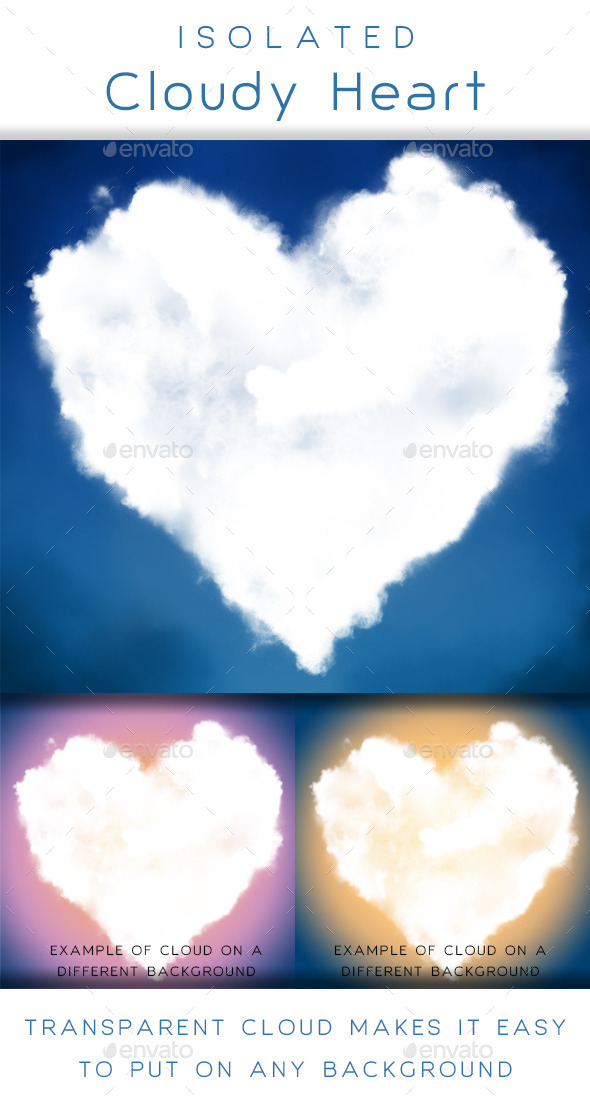 Cloudy Heart - Nature & Animals Isolated Objects