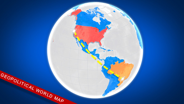 Geopolitical world map by shapeshiftersinc videohive play preview video download preview sciox Choice Image