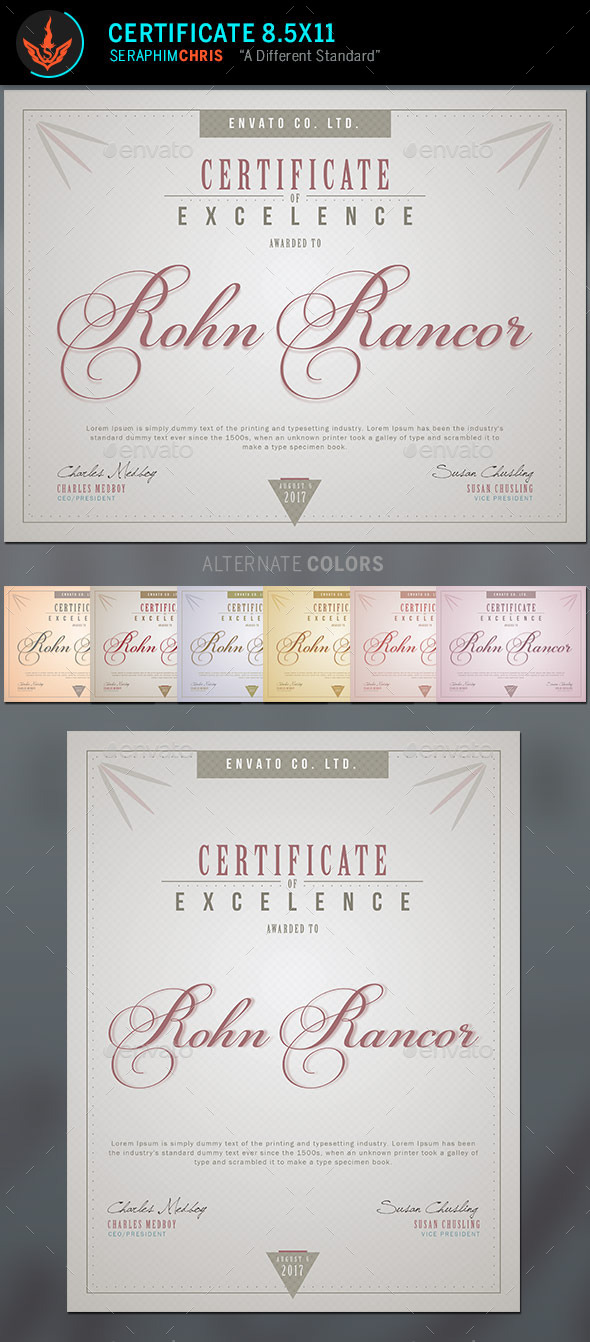 Certificate Template 2 - Certificates Stationery