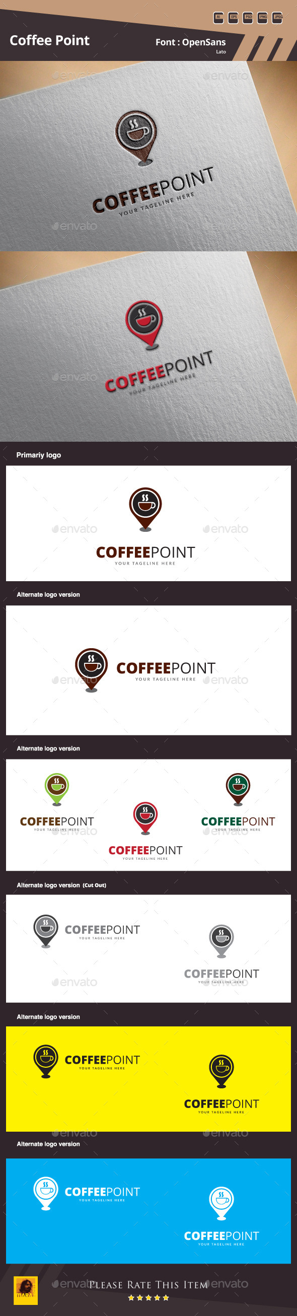 Coffee Point Logo Template - Food Logo Templates