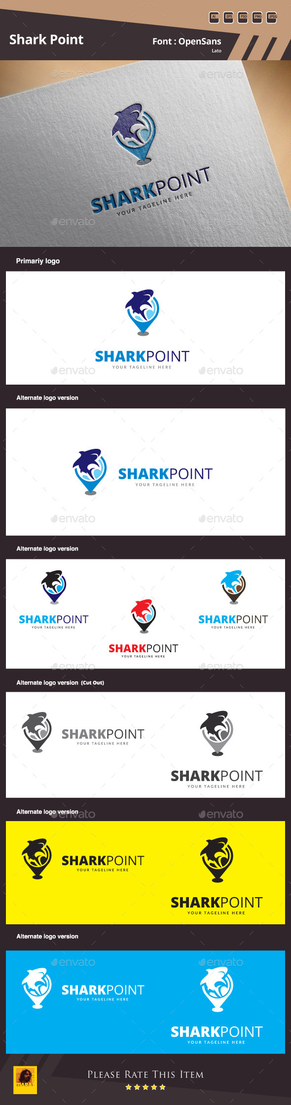 Shark Point Logo Template - Symbols Logo Templates