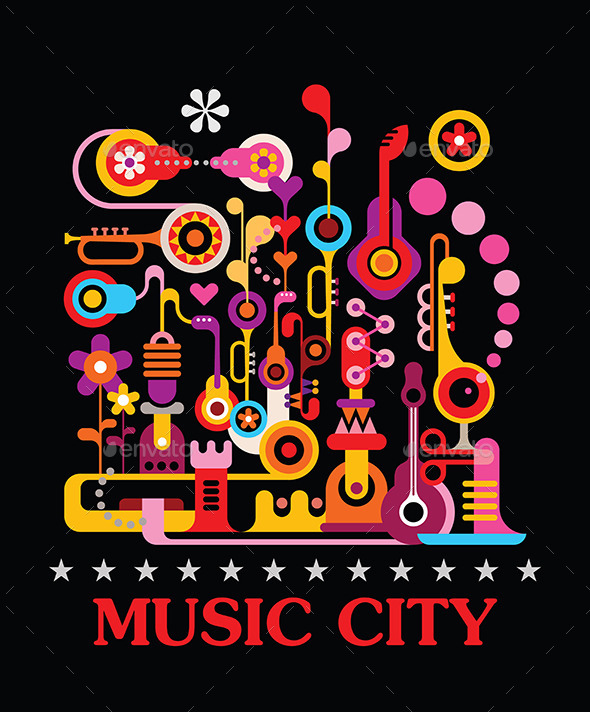 Music City - Decorative Vectors