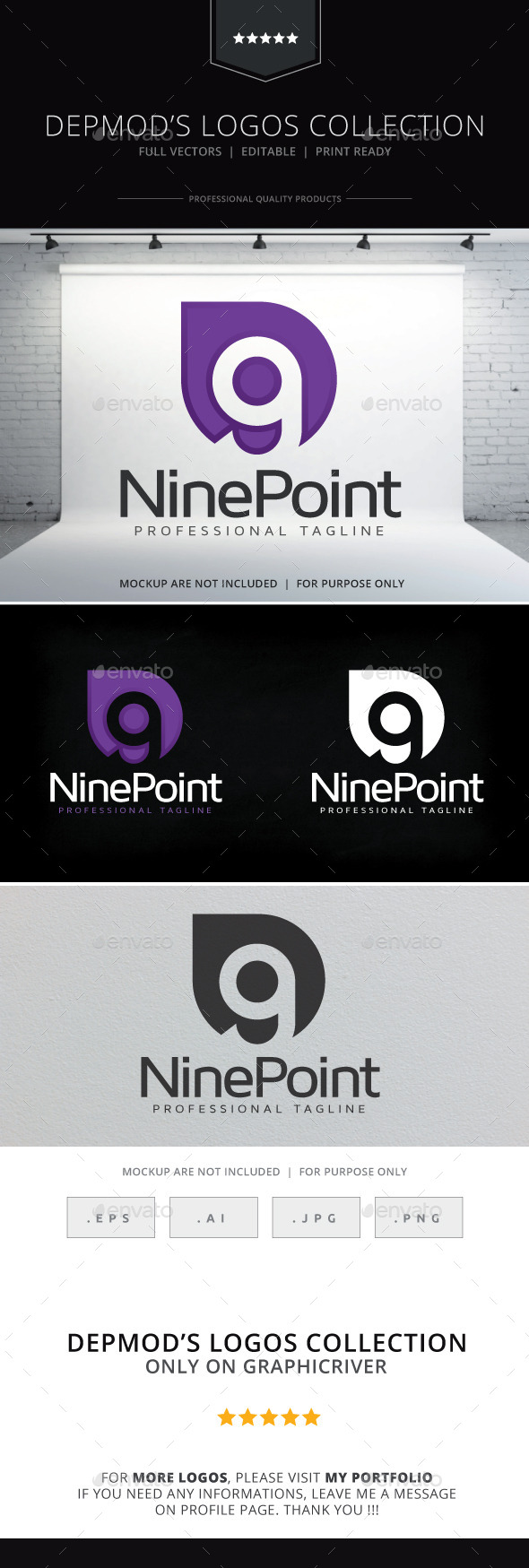 Nine Point Logo - Numbers Logo Templates