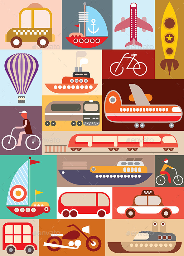 Transport Illustration - Travel Conceptual
